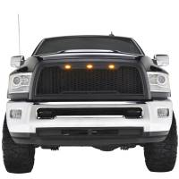 Paramount - 10-12 Dodge Ram 2500/3500 Matte Black ABS LED Impulse Mesh Grille - Image 1