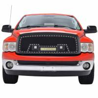 Paramount - 02-05 Dodge Ram 1500/03-05 2500/3500 Evolution Matte Black Stainless Steel Grille - Image 1