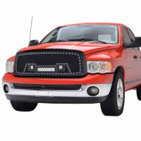 Paramount - 02-05 Dodge Ram 1500/03-05 2500/3500 Evolution Matte Black Stainless Steel Grille - Image 3