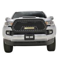 Paramount - 16-19 Toyota Tacoma Evolution Matte Black Stainless Steel Grille - Image 1