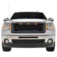 Paramount - 07-13 GMC Sierra 1500 Matte Black ABS LED Impulse Mesh Grille - Image 1