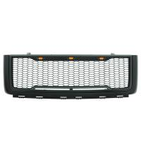 Paramount - 07-13 GMC Sierra 1500 Matte Black ABS LED Impulse Mesh Grille - Image 2