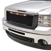 Paramount - 07-13 GMC Sierra 1500 Matte Black ABS LED Impulse Mesh Grille - Image 3