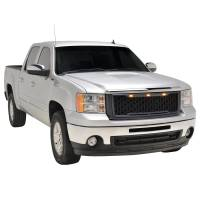 Paramount - 07-13 GMC Sierra 1500 Matte Black ABS LED Impulse Mesh Grille - Image 7