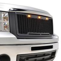 Paramount - 07-13 GMC Sierra 1500 Matte Black ABS LED Impulse Mesh Grille - Image 9