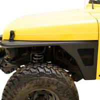 Paramount - 97-06 Jeep Wrangler TJ Front Armor Fender Flares with LED Lights - Image 1