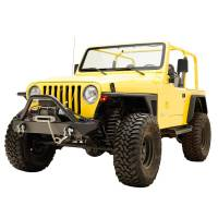 Paramount - 97-06 Jeep Wrangler TJ Front Armor Fender Flares with LED Lights - Image 4