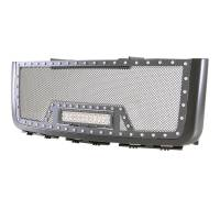Paramount - 07-10 GMC Sierra 2500HD/3500HD Evolution Matte Black Stainless Steel Grille - Image 2
