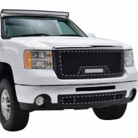 Paramount - 07-10 GMC Sierra 2500HD/3500HD Evolution Matte Black Stainless Steel Grille - Image 5