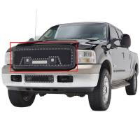 Paramount - 05-07 Ford SuperDuty F-250,350,450,550 Evolution Matte Black Stainless Steel Grille - Image 4