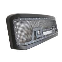 Paramount - 05-07 Ford SuperDuty F-250,350,450,550 Evolution Matte Black Stainless Steel Grille - Image 8