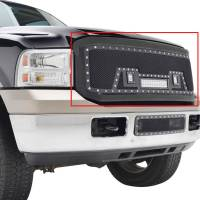 Paramount - 05-07 Ford SuperDuty F-250,350,450,550 Evolution Matte Black Stainless Steel Grille - Image 9