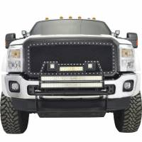 Paramount - 11-16 Ford SuperDuty F-250/350/450/550 Evolution Matte Black Stainless Steel Grille - Image 1