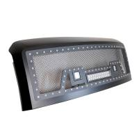 Paramount - 08-10 Ford SuperDuty Evolution Matte Black Stainless Steel Grille - Image 8