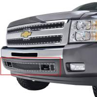 Paramount - 07-13 Chevy Silverado 1500 Bumper Evolution Black Stainless Steel Overlay Grille - Image 3