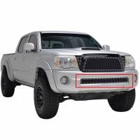 Paramount - 05-11 Toyota Tacoma Evolution Black Stainless Steel Bumper Overlay Grille - Image 7