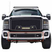 Paramount - 11-16 Ford F-250/350 Bumper Evolution Black Stainless Steel Overlay Grille - Image 1