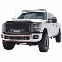 Paramount - 11-16 Ford F-250/350 Bumper Evolution Black Stainless Steel Overlay Grille - Image 4