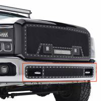 Paramount - 11-16 Ford F-250/350 Bumper Evolution Black Stainless Steel Overlay Grille - Image 9