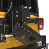Paramount - 07-18 Jeep Wrangler JK Body Width Rear Bumper with Tailgate Tire Carrier - Image 5