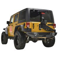 Paramount - 07-18 Jeep Wrangler JK Body Width Rear Bumper with Tailgate Tire Carrier - Image 12