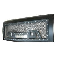 Paramount - 09-14 Ford F-150 Evolution Matte Black Stainless Steel Grille - Image 4