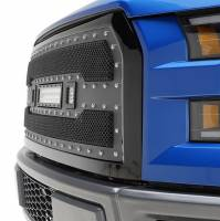 Paramount - 15-17 Ford F-150 Evolution Matte Black Stainless Steel Grille - Image 3