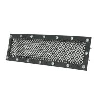 Paramount - 15-19 Ford F150 Evolution Black Stainless Steel Bumper Overlay Grille - Image 2