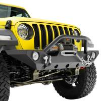 Paramount - 18-21 Jeep Wrangler JL/JT Mid-Width Front Bumper with OE Fog Light Provision - Image 10