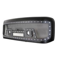 Paramount - 99-04 Ford SuperDuty F-250,350,450,550 Evolution Matte Black Stainless Steel Grille - Image 4