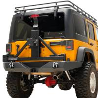 Paramount - 07-18 Jeep Wrangler JK Full-Width Rear Bumper with SureGrip Tire Carrier - Image 3