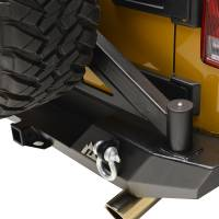 Paramount - 07-18 Jeep Wrangler JK Body Width Rear Bumper with Tailgate Tire Carrier - Image 3