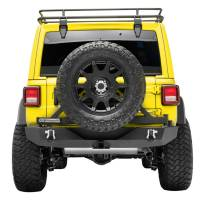 Paramount - 18-21 Jeep Wrangler JL Body Width Rear Bumper with SureGrip Tire Carrier - Image 1