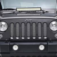 Paramount - 07-18 Jeep Wrangler JK Chrome Stainless Steel Wire Mesh Grille Insert - Image 1