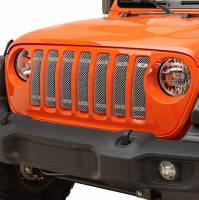 Paramount - 18-21 Jeep Wrangler JL 7PC Chrome Overlay Stainless Steel Wire Mesh Grille - Image 4