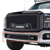 Paramount - 11-16 Ford F-250/350 Bumper Evolution Black Stainless Steel Overlay Grille - Image 3