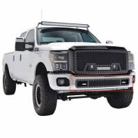 Paramount - 11-16 Ford F-250/350 Bumper Evolution Black Stainless Steel Overlay Grille - Image 7