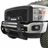 Paramount - 11-16 Ford SuperDuty F-250/350/450/550 Evolution Matte Black Stainless Steel Grille - Image 3