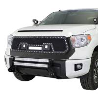 Paramount - 14-19 Toyota Tundra Evolution Matte Black Stainless Steel Wire Mesh Grille - Image 2