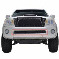 Paramount - 05-11 Toyota Tacoma Evolution Black Stainless Steel Bumper Overlay Grille - Image 1