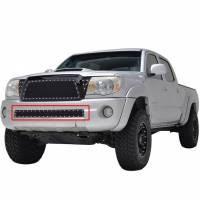 Paramount - 05-11 Toyota Tacoma Evolution Black Stainless Steel Bumper Overlay Grille - Image 4