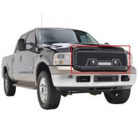 Paramount - 05-07 Ford SuperDuty F-250,350,450,550 Evolution Matte Black Stainless Steel Grille - Image 7