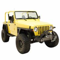 Paramount - 97-06 Jeep Wrangler TJ Front Armor Fender Flares with LED Lights - Image 6