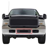 Paramount - 05-07 Ford SuperDuty/Excursion Bumper Evolution Black Stainless Steel Overlay Grille - Image 1