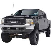 Paramount - 99-04 Ford SuperDuty F-250,350,450,550 Evolution Matte Black Stainless Steel Grille - Image 3